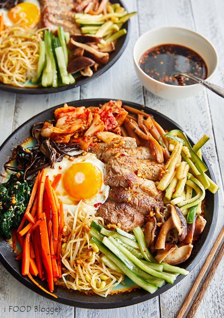 Bibimbap korean mixed rice authentic bibimbap recipe