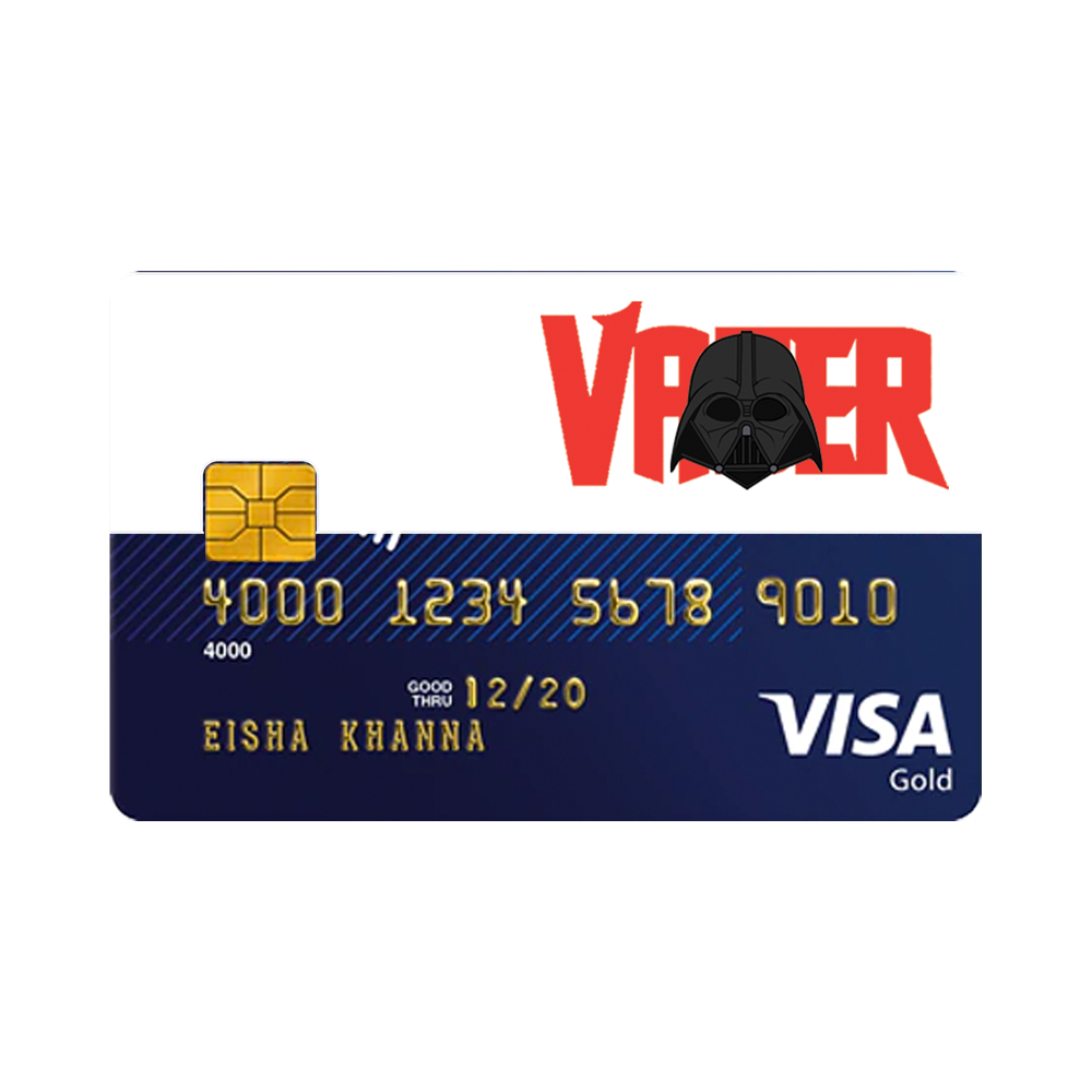 Darth Vader Fishing Cards Cards Credit Card Debit