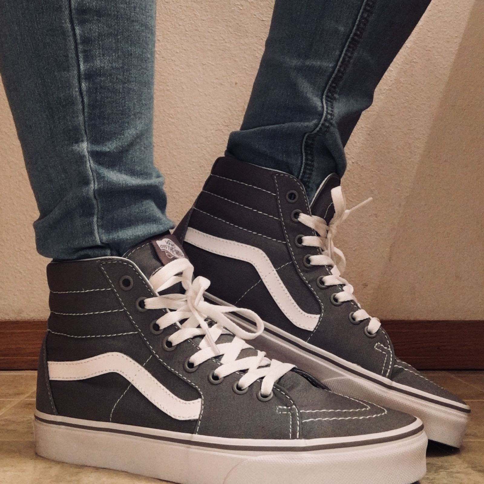 0edb3b85b2 gray grey vans - high tops - jeans - aesthetic - photography - tumblr