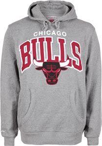 Mitchell   Ness NBA Chicago Bulls Hoodie grau meliert  6afb5f721bfc