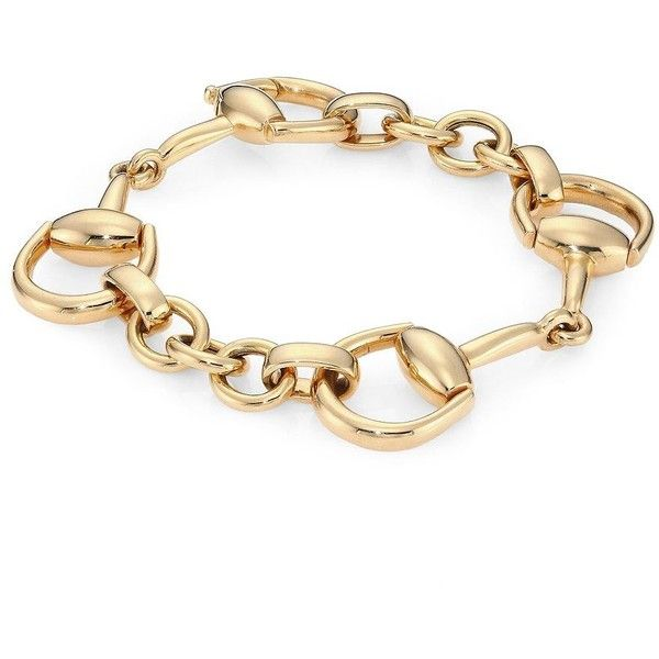 Gucci Horsebit 18K Yellow Gold Bracelet ($5,950) ❤ liked on Polyvore featuring jewelry, bracelets, jewelries, apparel & accessories, gold, gold jewellery, gucci jewellery, gucci bangle, yellow gold bangle and gold fine jewelry