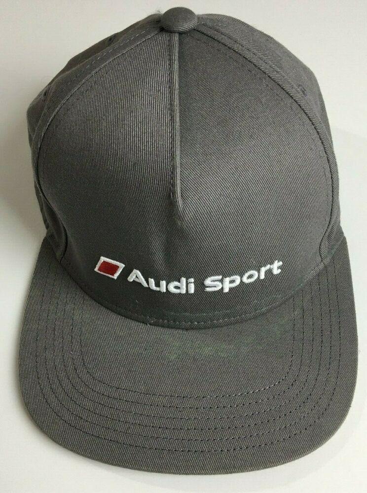 Audi Sport Snapback Gray Baseball Cap Adult One Size Adjustable