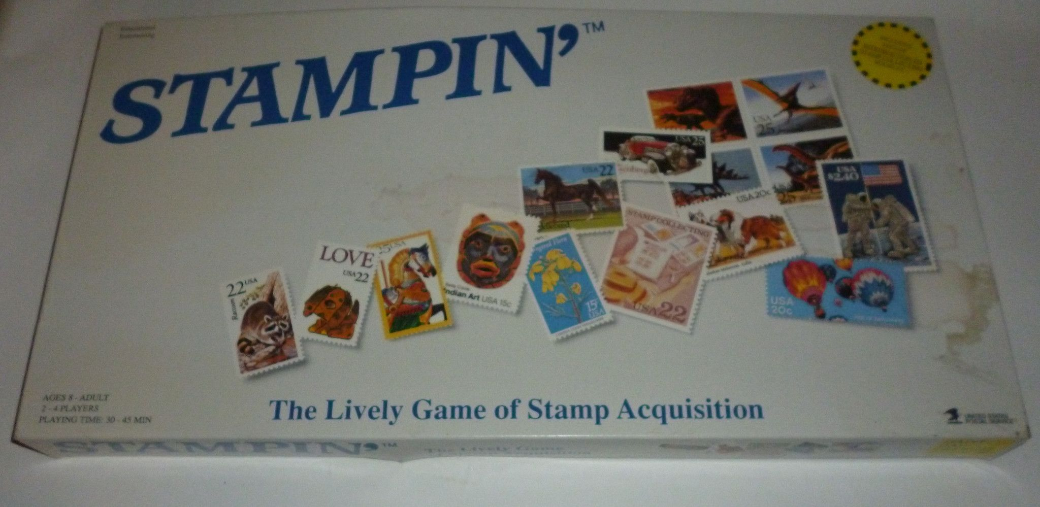 Stampin Stamp Collecting Post Office USPS Board Game