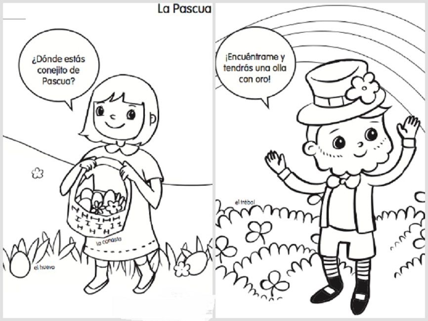 easter coloring pages in spanish