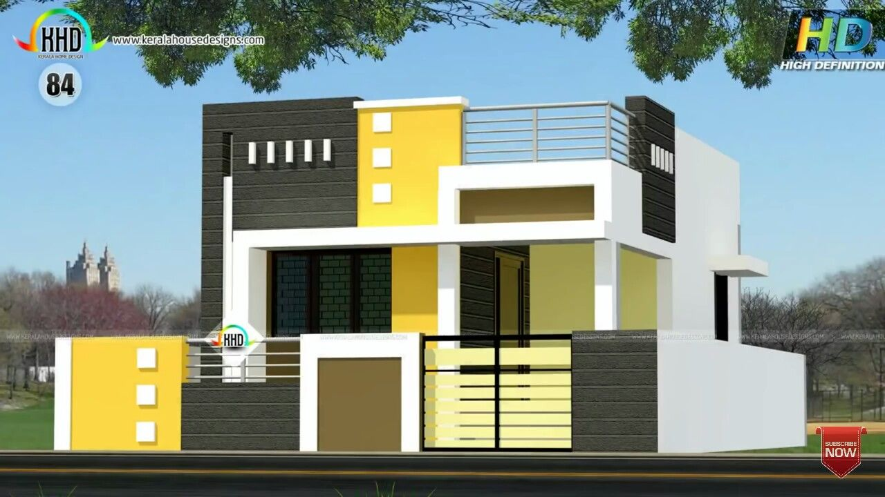 Pin by azhar masood on house elevation indian single for Small house elevation in india