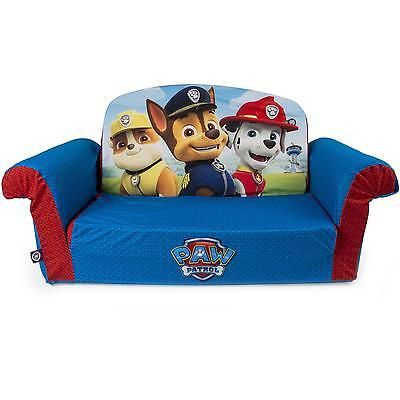 Flip Open Sofa Children Kids Paw Patrol Couch Bed Toddler Convertible Chair Seat Kids Couch Foam Sofa Paw Patrol Room