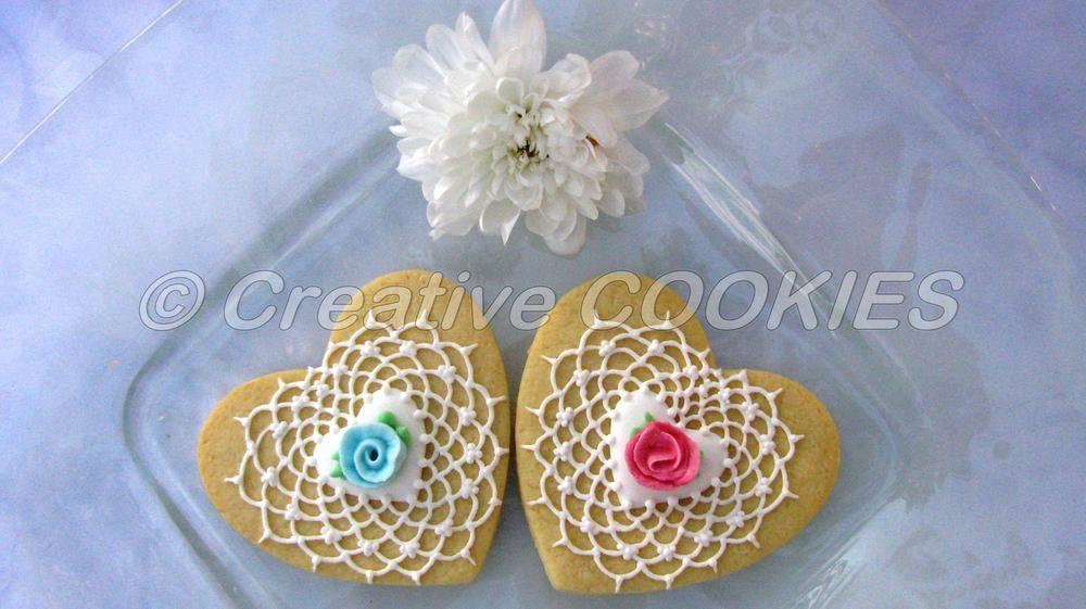 Vintage lace cookies | Galletas decoradas encaje ...