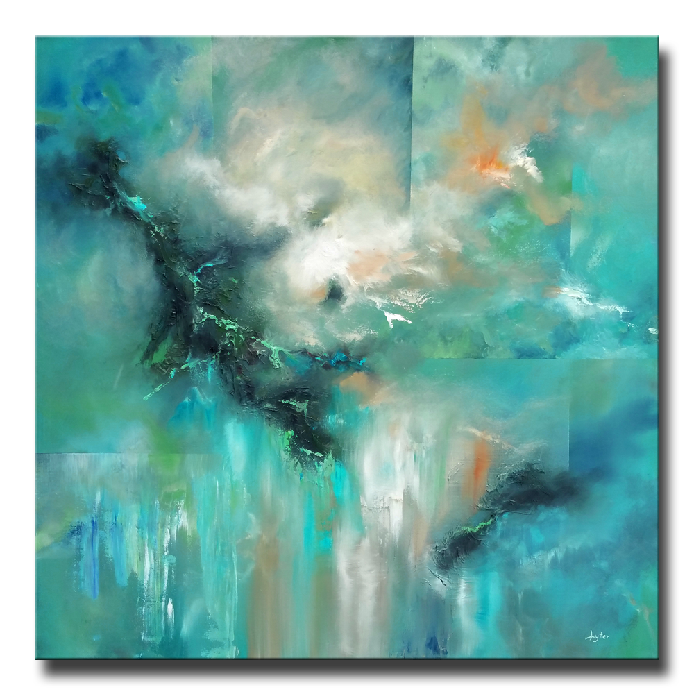 Face Of The Emerald Storm Christopher Lyter Abstract Art Projects Beautiful Abstract Art Artist Inspiration