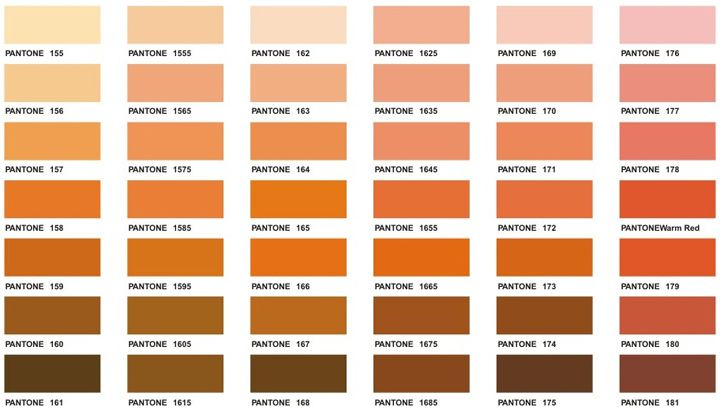 Pantone Colour Chart Ochre Between Earth And Rose  Appropriate