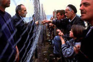 "Kosovar-Albanian refugees. Kosovo War, 1999.<span class=""photo ..."