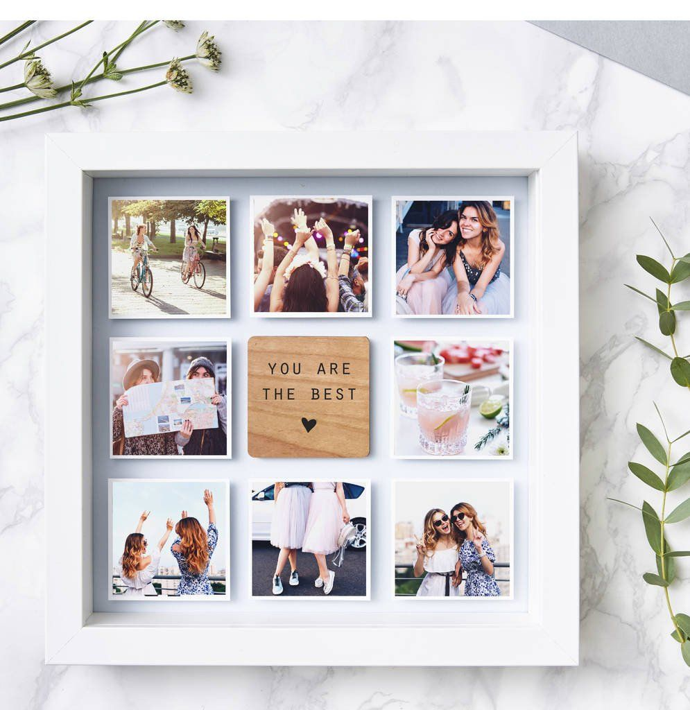 Personalised Best Friend Framed Photo Print #friendbirthdaygifts
