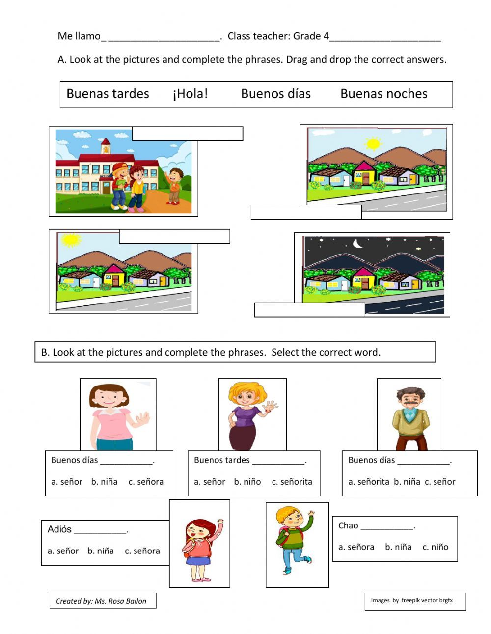 Saludos Y Despedidas Interactive Exercise For Grade 4 Elementary You Can Do The Exercises Online Or Download The Worksheet In 2021 Elementary Workbook School Subjects