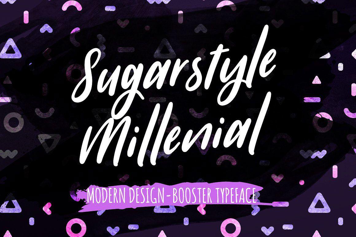 Vedi questo progetto @Behance: \u201c[Free Font] Sugarstyle Millenial - Handmade Typeface\u201d https://www.behance.net/gallery/52696437/Free-Font-Sugarstyle-Millenial-Handmade-Typeface