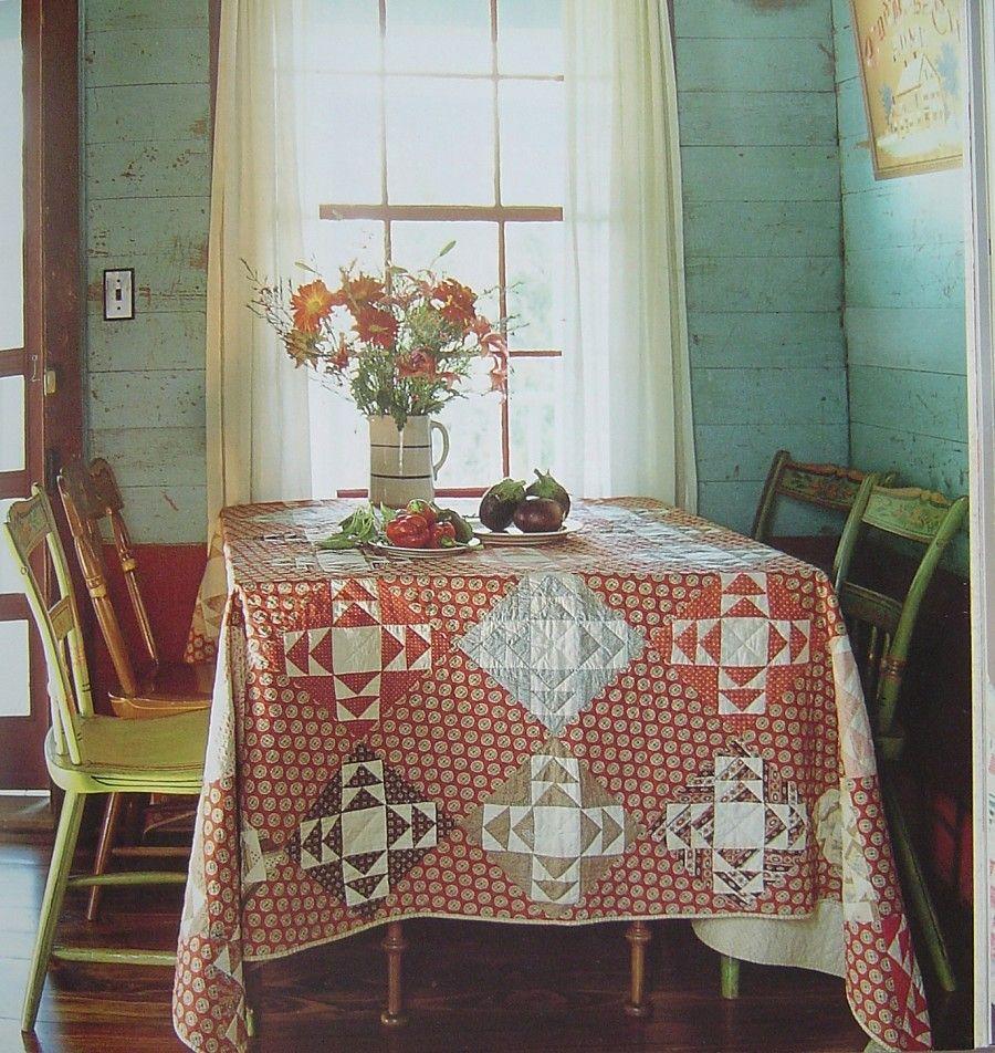 The 25 best farmhouse tablecloths ideas on pinterest for Cottage charm farmhouse
