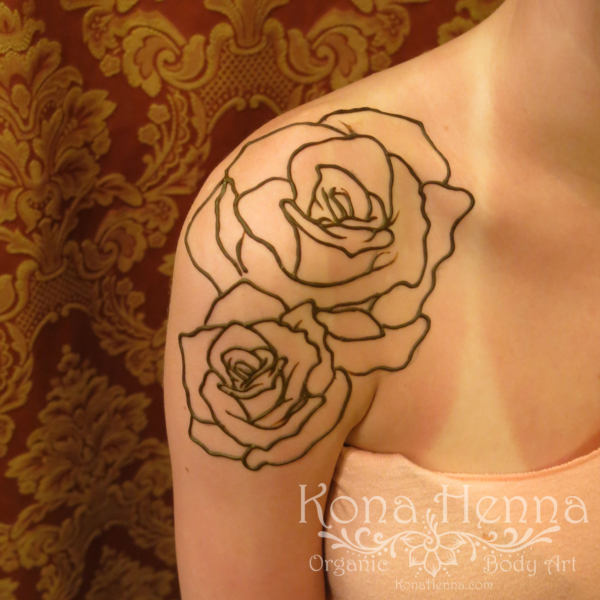 Rose Henna Tattoo Designs On Wrist Small: Organic Henna Products. Professional Henna Studio