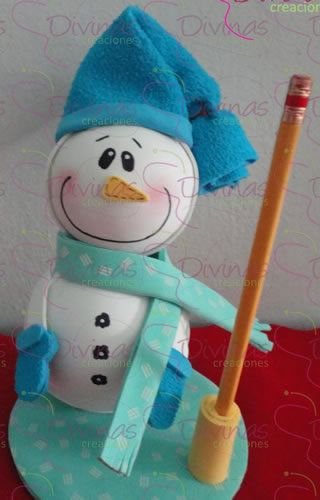 Manualidades para ganar dinero mu eco de nieve snowman for Manualidades de navidad 2016