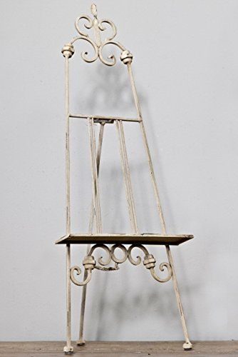 Vintagevibe Small Antique White Metal Display Easel Ideal For Top Table /  Wedding Menus / Table