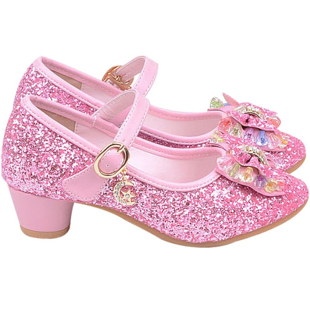 GIRLS BABY-TODDLER FIRST WALKING-PARTY-WEDDING DIAMANTE SHOES WHITE-GOLD-PINK