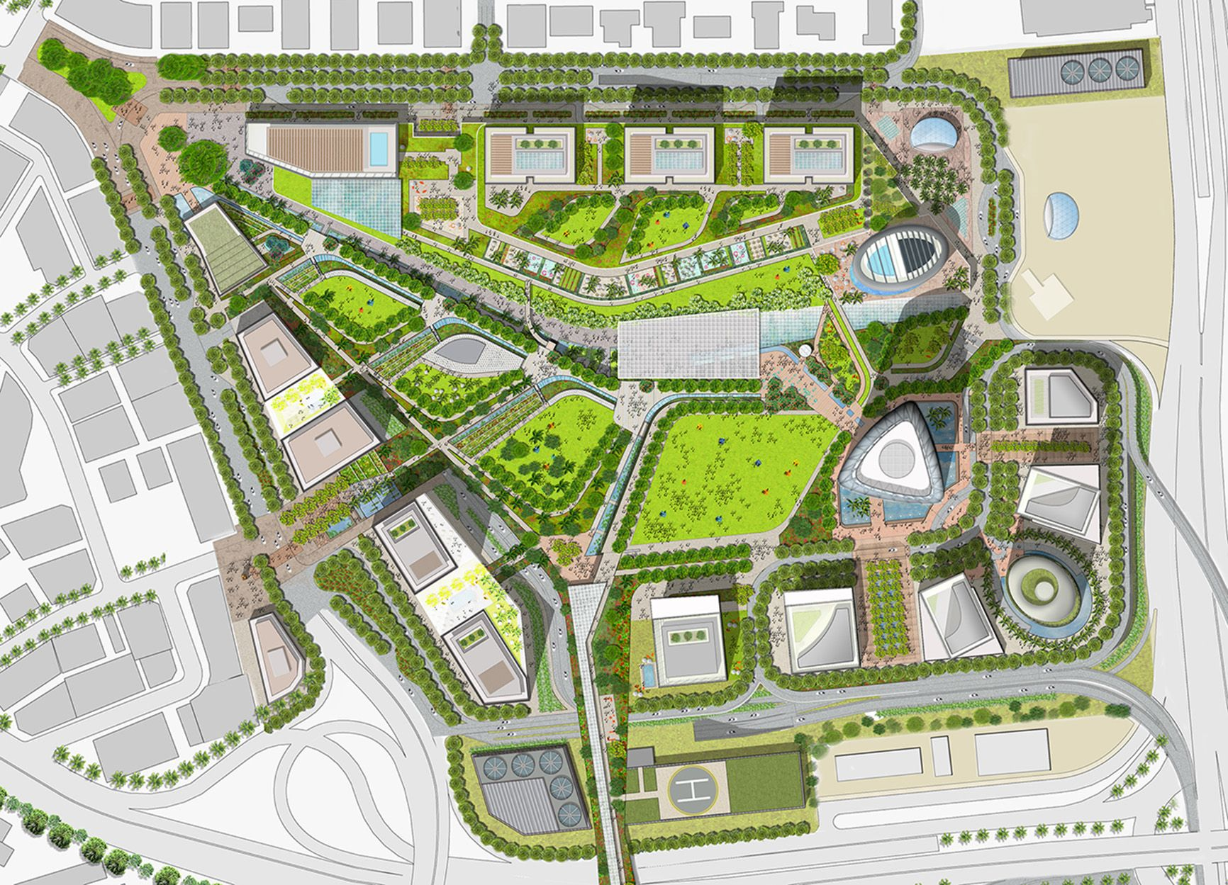 Case Study Of Design Of Globally Significant Civic Park And Public Realm By Uk Landscape Architec Landscape Architecture Drawing Landscape Design Uk Landscapes