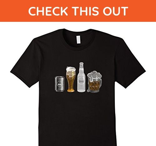 Mens Craft Beer T Shirt Brewery Alcoholic Fun 4 Container Tee 3d