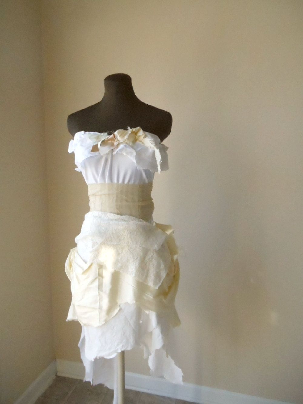 Steampunk wedding dresses  steampunk wedding  Steampunk Short Wedding Dress Bohemian Tattered