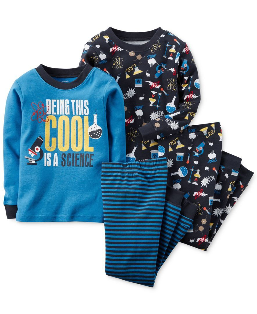 165f4aa2bf3e Carter s Toddler Boys  4-Piece Cool Science Pajamas - I teach ...