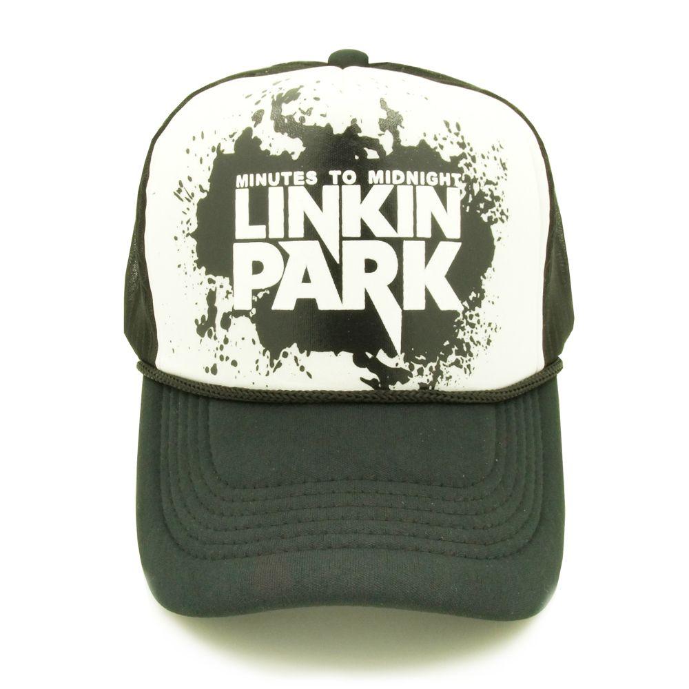 641e6d9d31a Linkin Park (Rock Band) Summer Black Caps for Men  amp  Women https