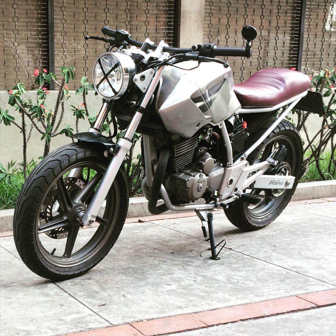 Honda Cbx250 Twister Modified As Caferacer By Ridefenix Venezuela Cbx 250 Motos De Rua Cb 250 Twister