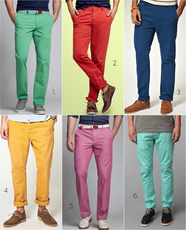 coloured pants for men - Pi Pants