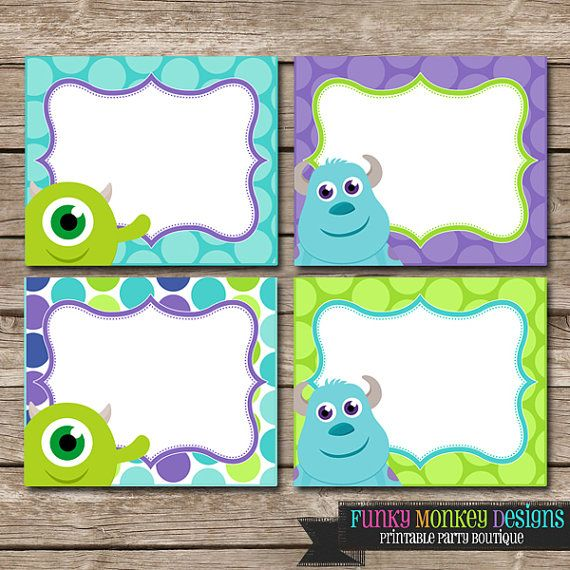 Diy Instant Download Monster Inc Inspired Birthday Party