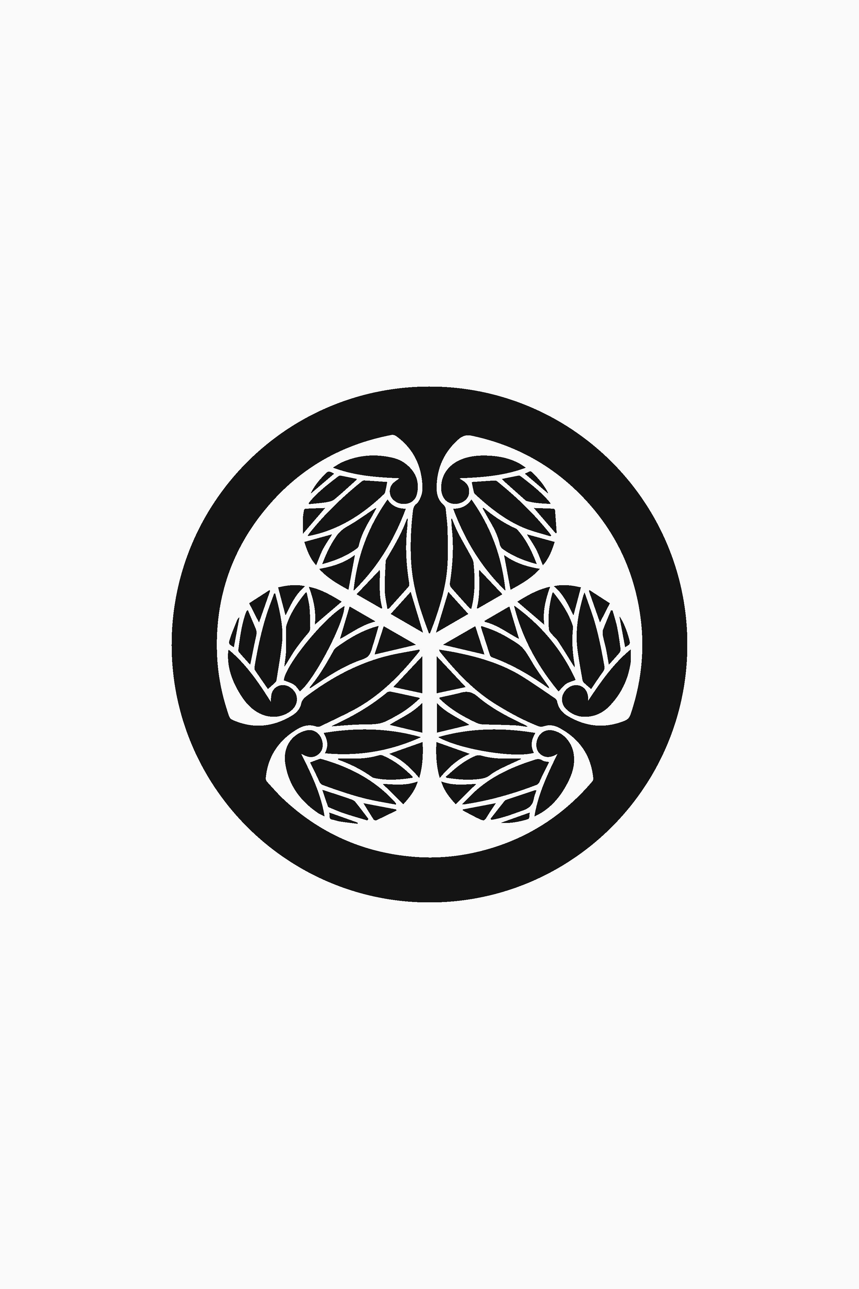 Tokugawa Clan Black Mon Clan Hollyhocks Flowers Edo Period