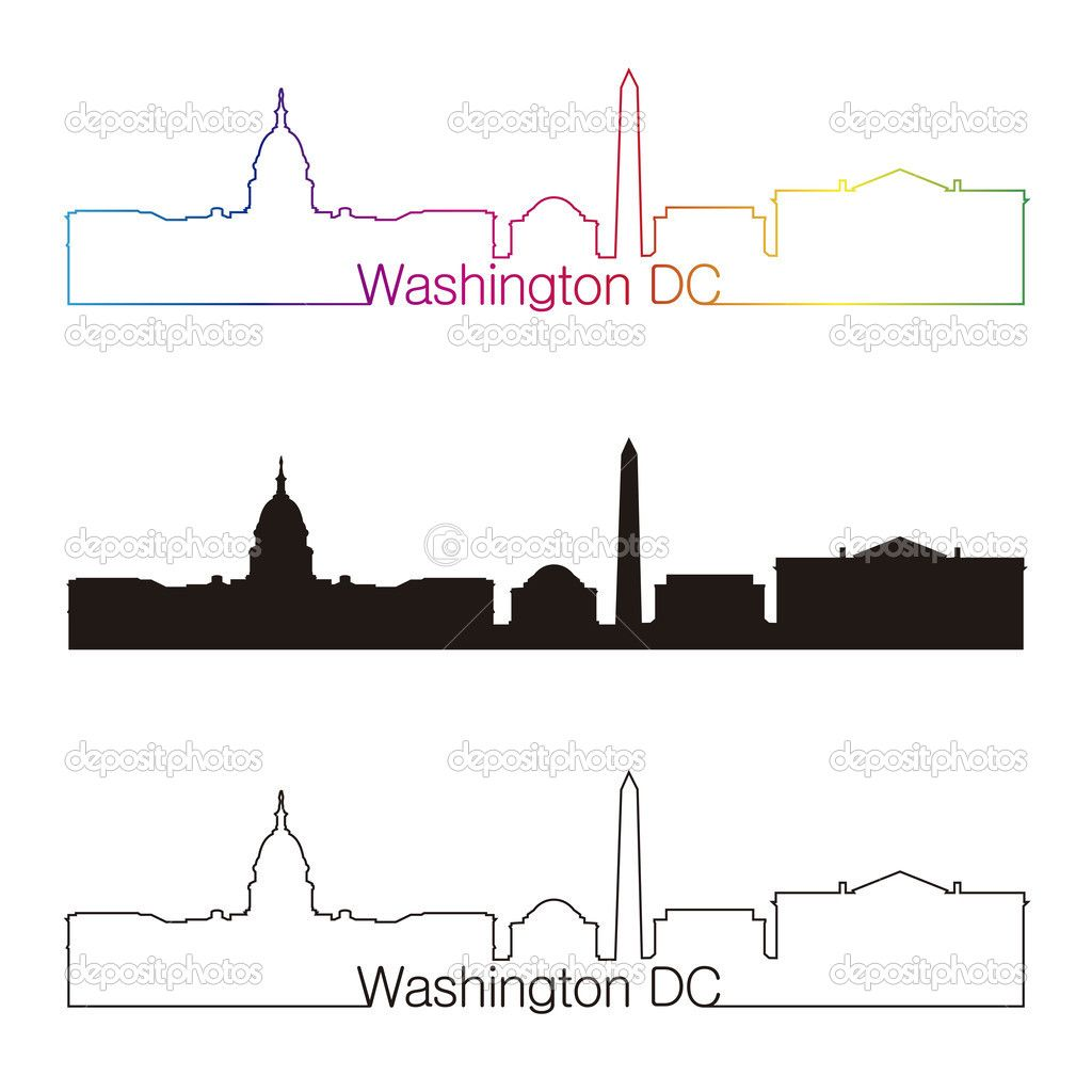 washington dc skyline drawing