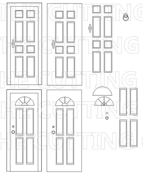 front door shaped card set template cutting file kid s room
