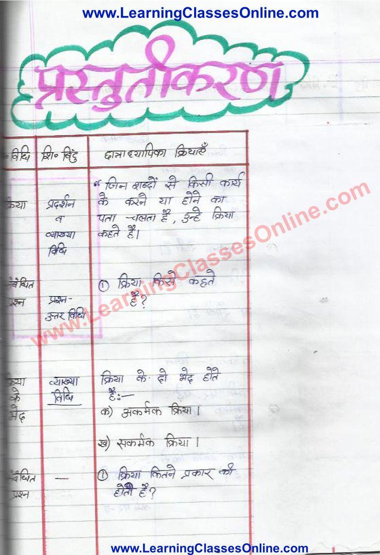 Lesson Plan For Hindi On Kriya In 2021 How To Plan Lesson Kriya [ 1143 x 783 Pixel ]