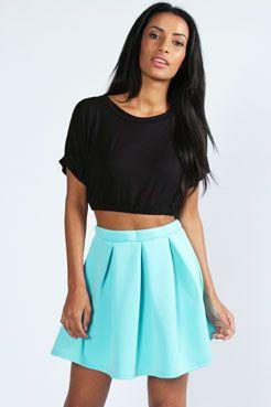6e4088845a Leanne Box Pleat Scuba Skater Skirt | Skater skirts | Skirts, Skater ...