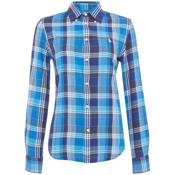 c5ff7f413 Polo Ralph Lauren Georgia long sleeve check shirt ($125) ❤ liked on  Polyvore featuring