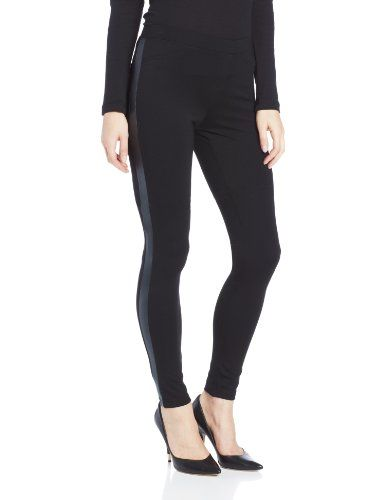 HUE Fleece Lined High Waist Ponte Legging Black Small