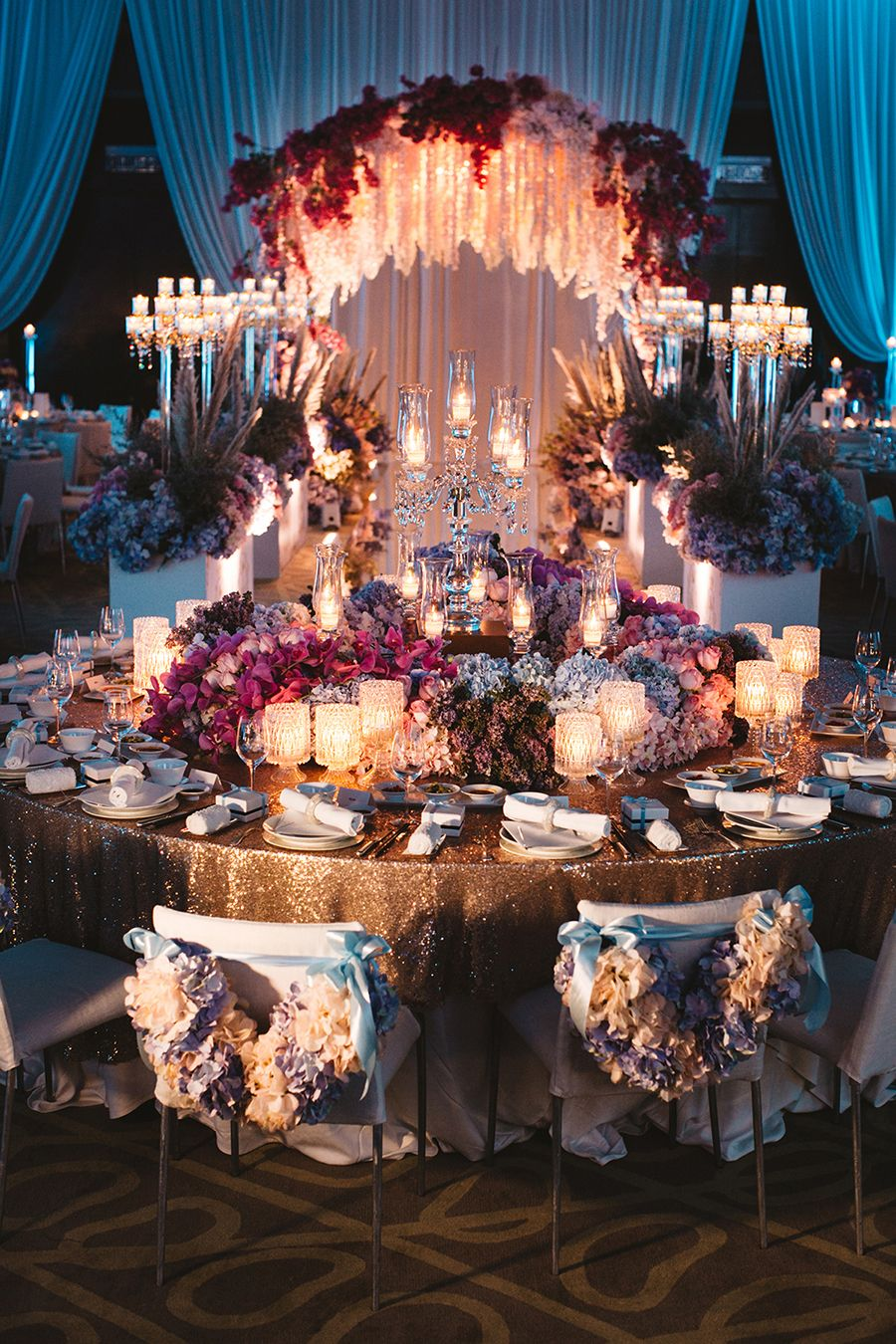 Kelvin And Yiyi S Opulent Wedding Bash In Kuala Lumpur Malaysia Opulent Wedding Whimsical Wedding Decorations Flower Centerpieces Wedding
