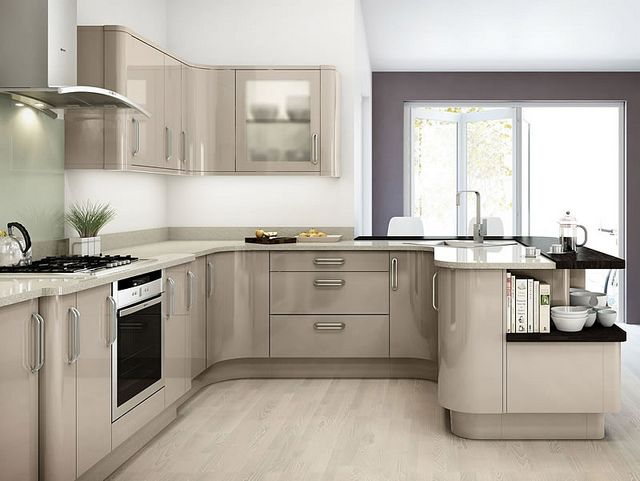 Avant Cappuccino Kitchen Gloss Kitchen Cabinets High Gloss Kitchen Cabinets Kitchen Design