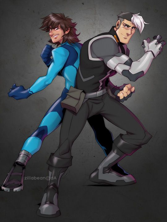 Commission: Zero Suit Hiccup + Shiro Battle Stance By