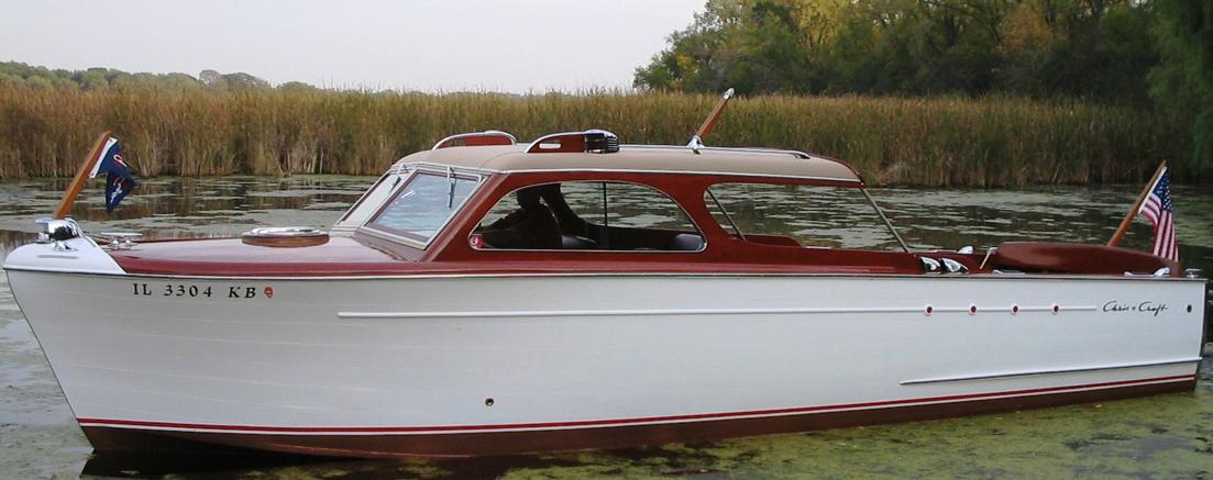 26' CC Super Delux Semi Enclosed 1951 | Captain Chris Craft | Cabin
