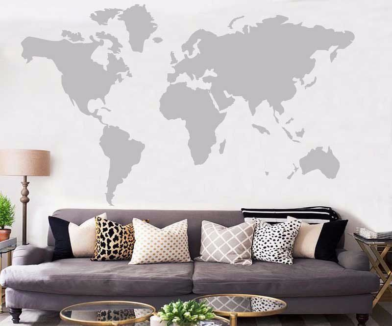 World map wall sticker decal mom abode traffic wall stickers world map wall sticker decal mom abode gumiabroncs Choice Image