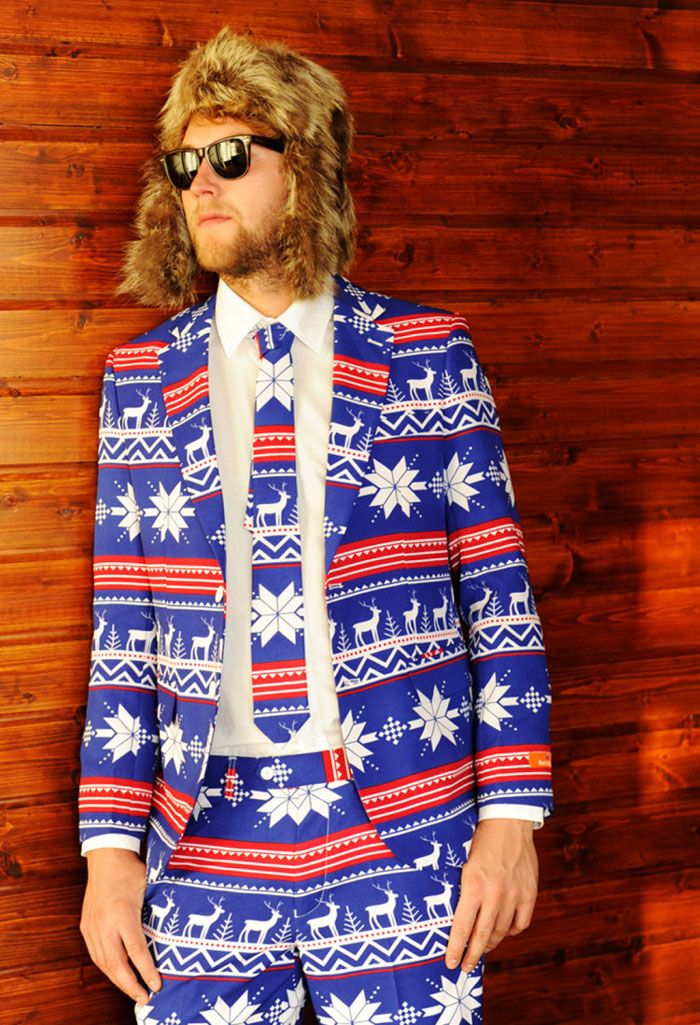 instead of an ugly sweater you could have a suit i am super conflicted - Christmas Sweater Suit