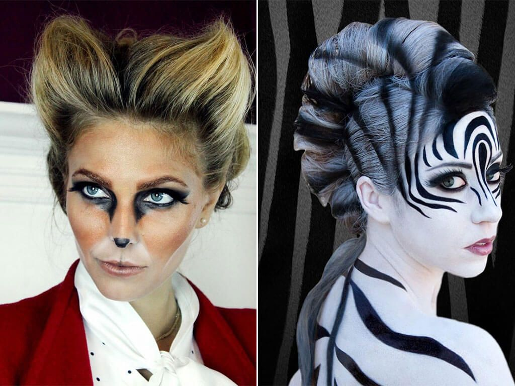 Animal Halloween Makeup Inspiration Image | People Illustration ...