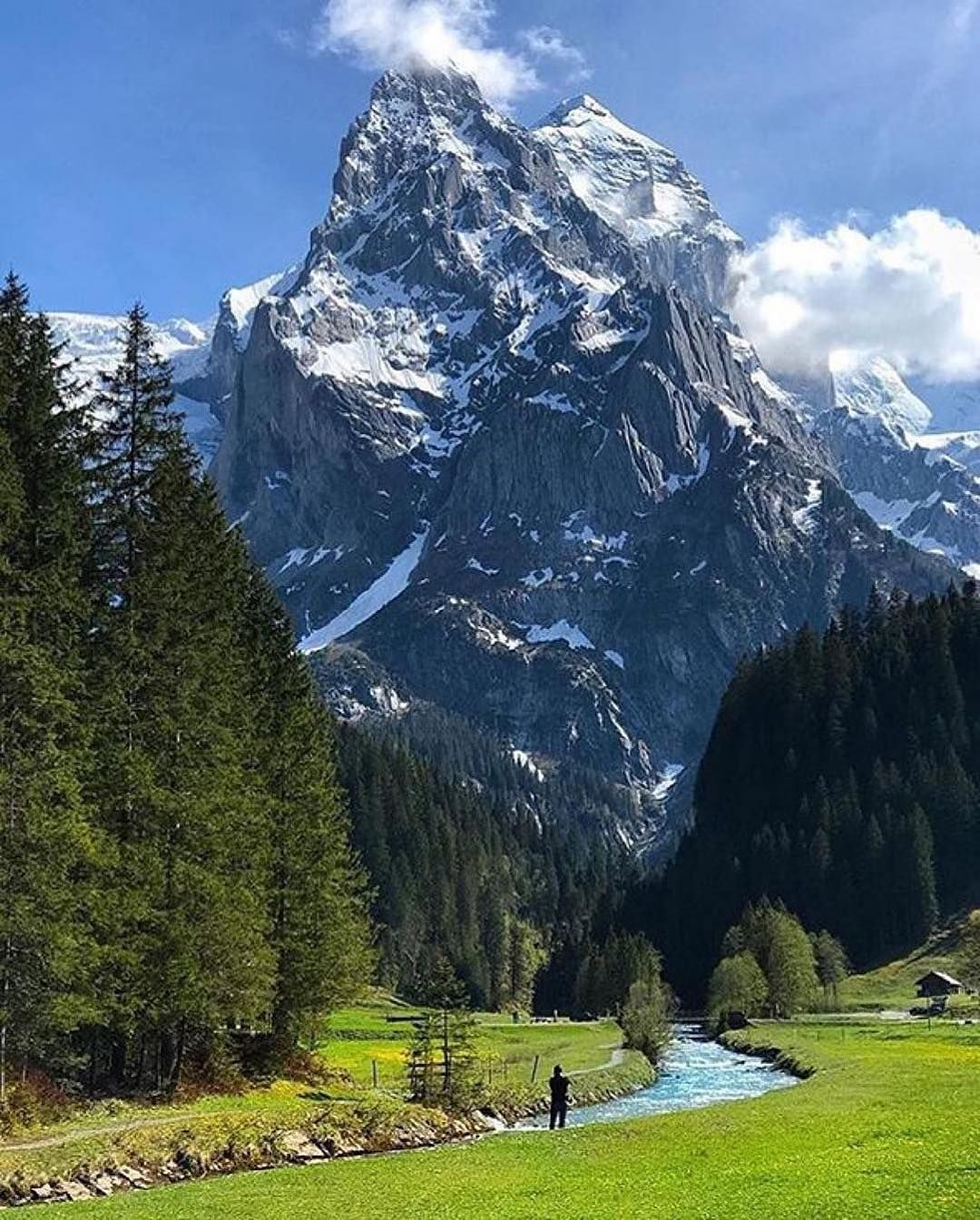 Places To Visit In Switzerland Blog: Follow @nature For Top Travel Content. Standing Below The