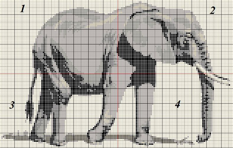 Grille gratuite point de croix elephant point de croix 1 vrac pinterest point de croix - Photos d elephants gratuites ...