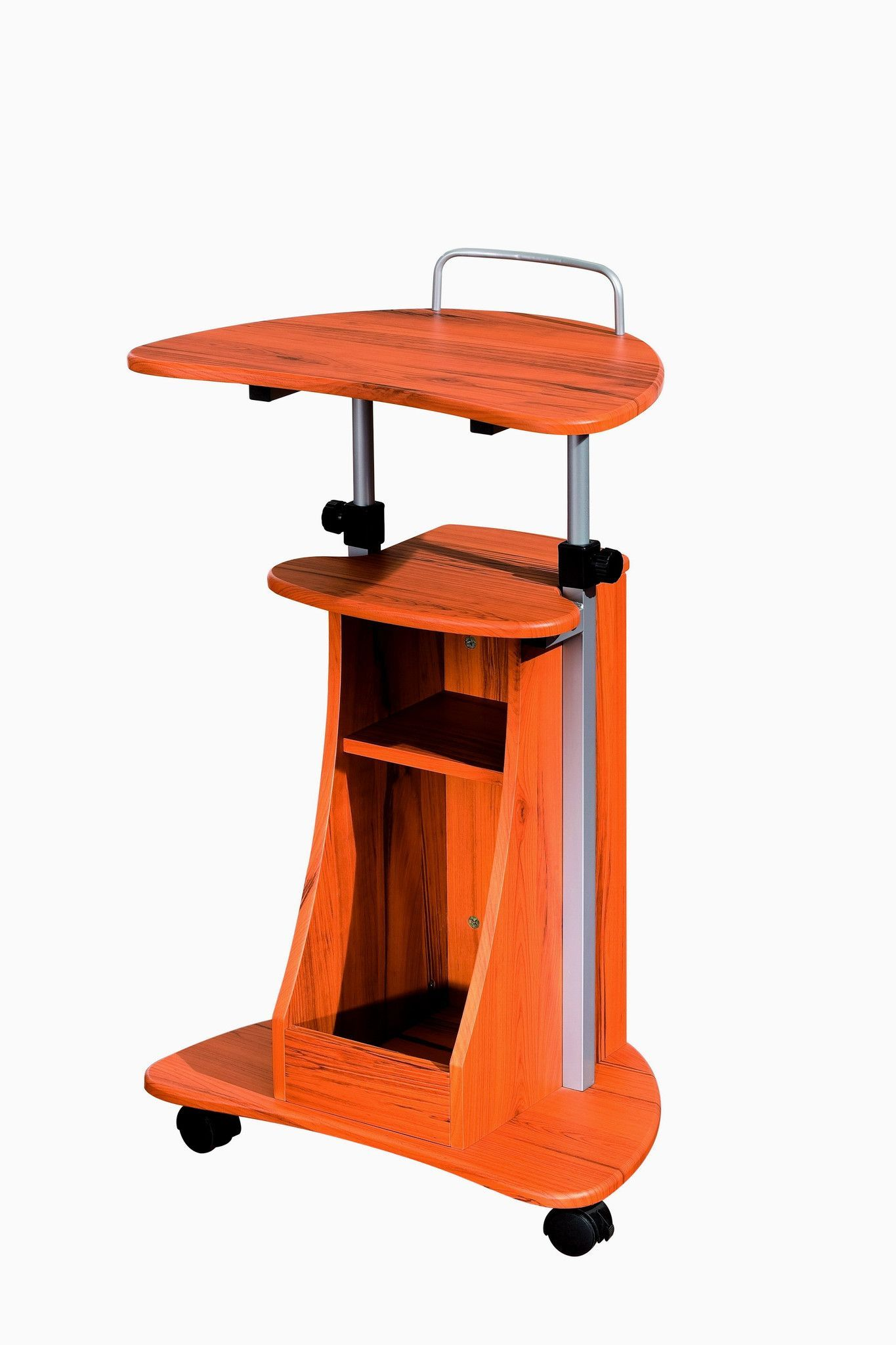 Techni Mobili Modern Rolling Laptop Cart With Storage Best Standing Desk Desk Storage Stand Up Desk