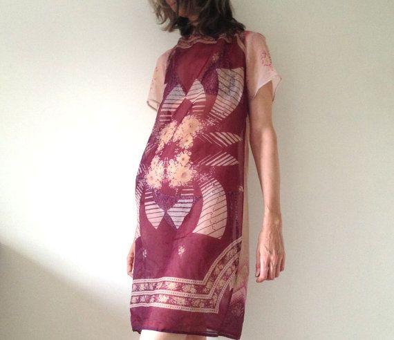 Handmade Beach Dress Antique Indian Chiffon by AntAtHome on Etsy