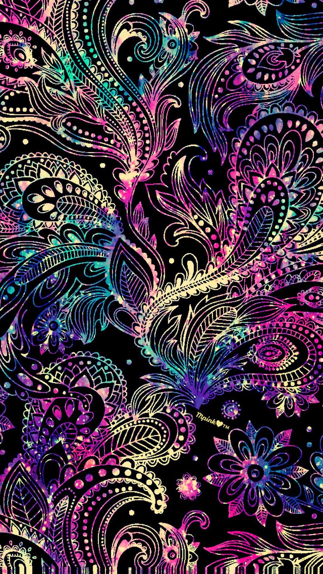 Neon Paisley Galaxy Wallpaper Androidwallpaper Iphonewallpaper Wallpaper Galaxy Sparkle Glitter Lo Galaxy Wallpaper Phone Wallpaper Beautiful Wallpapers