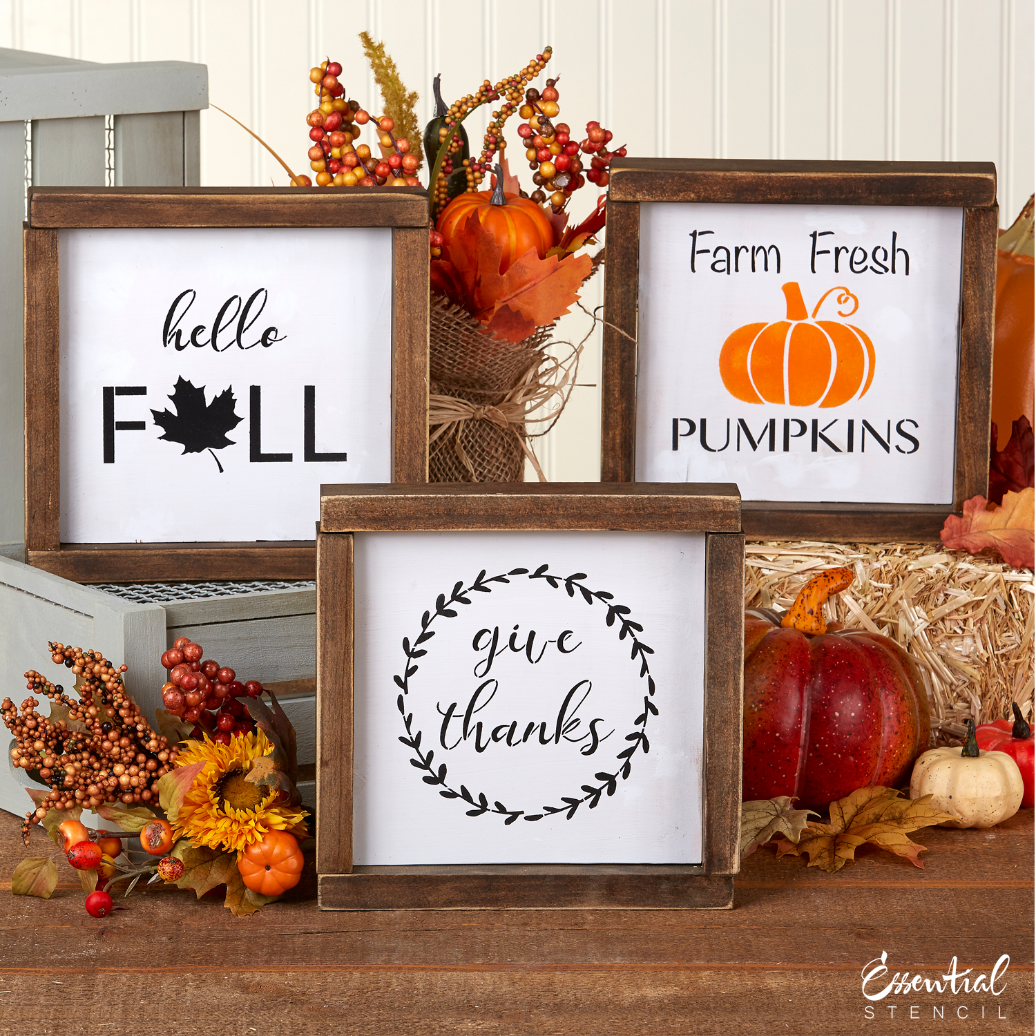 Fall Mini Sign Stencils 3 Pack Wood Burning Stencils Sign Stencils Stencils For Wood Signs